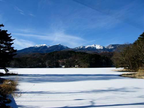 松原湖結氷
